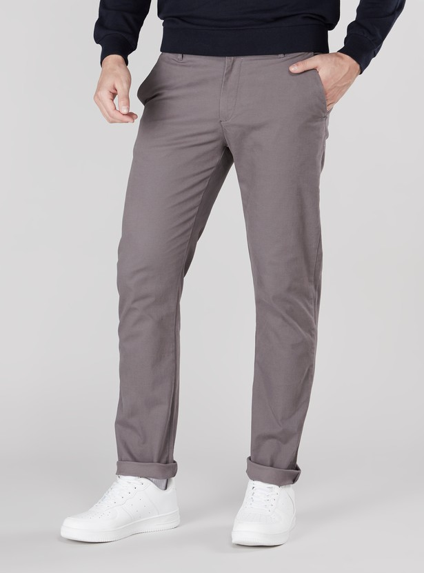 Plain Chino Pants with Pocket Detail in Skinny Fit