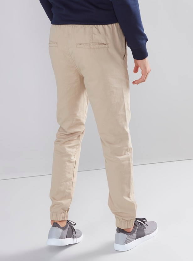 Plain Jog Pants with 5 Pockets and Drawstring