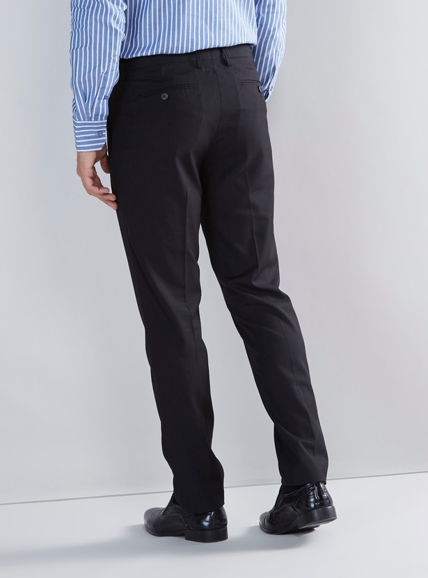 Slim Fit Trousers with Pocket Detail and Belt Loops