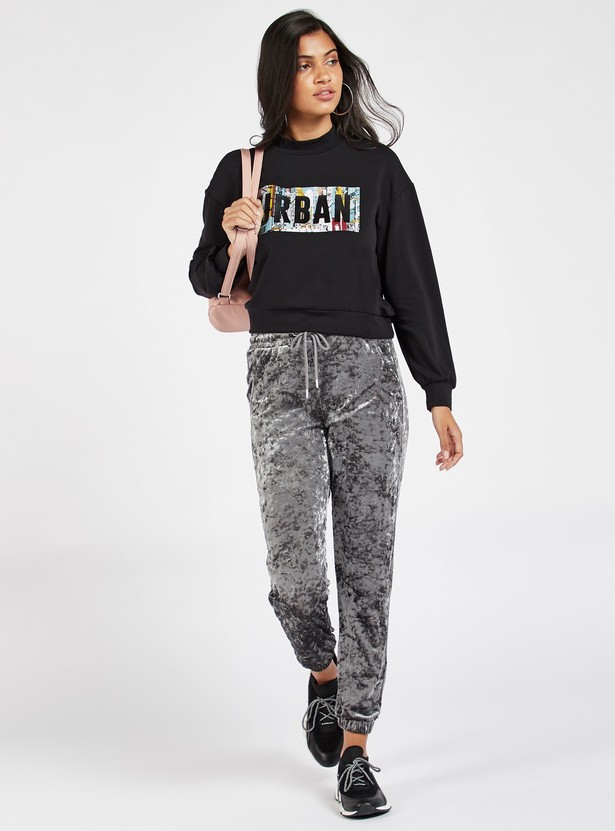 Textured Jog Pants with Pockets and Drawstring