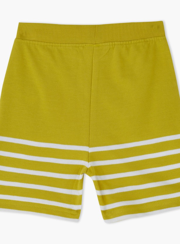 Knitted Striped Shorts