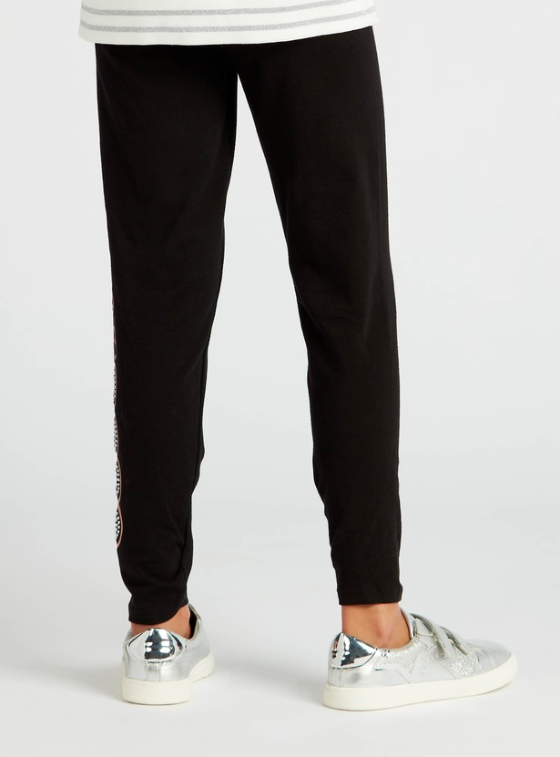 Printed Full-Length Leggings with Elasticated Waistband