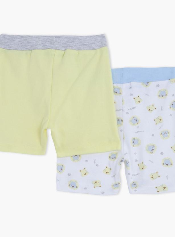 Shorts with Elasticised Waistband -  Set of 2