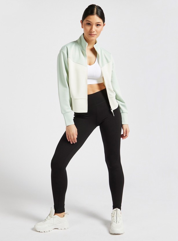 Solid Activewear Leggings in Slim-Fit with Elasticised Waistband