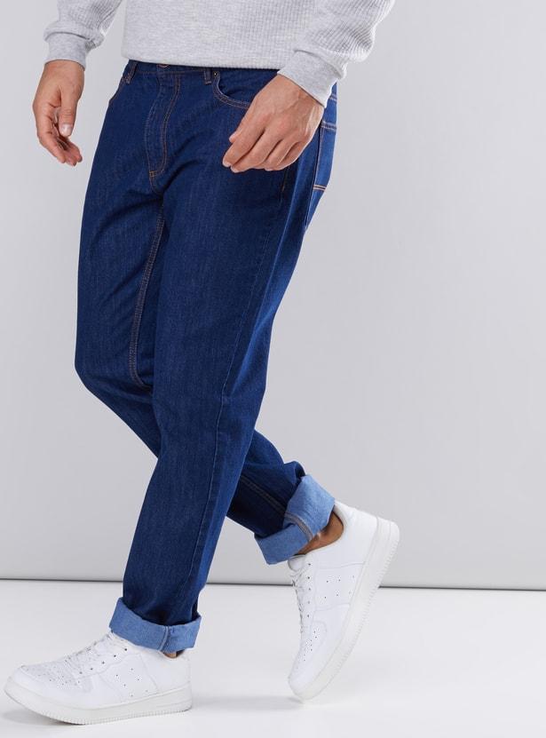 بنطال جينز طويل قصّة مستقيمة