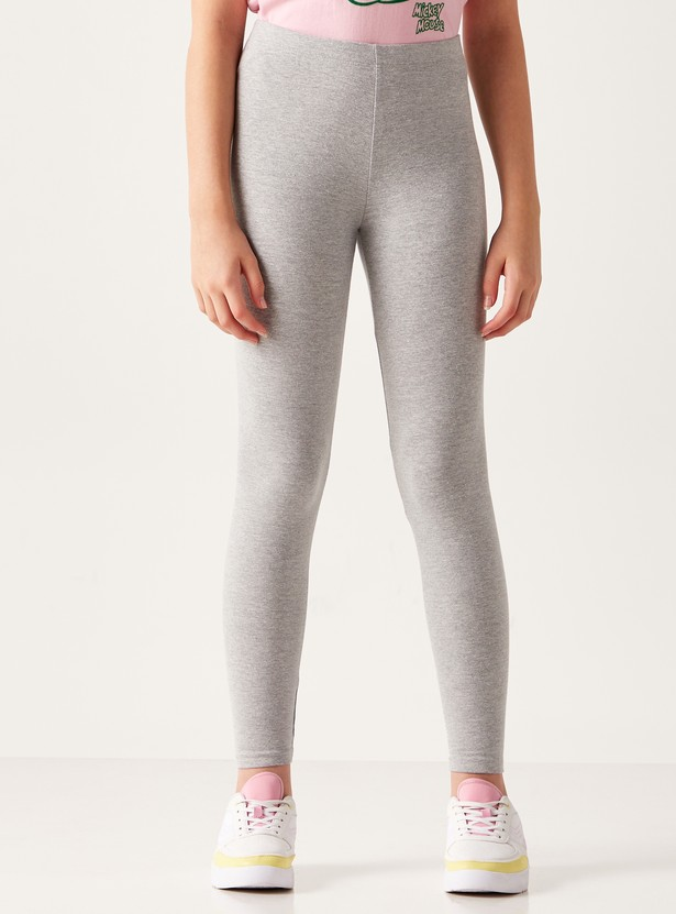 Plain Leggings with Elasticated Waistband
