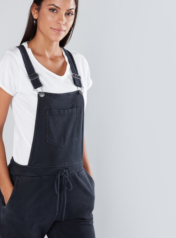 Full Length Jogger Dungarees with Pocket Detail