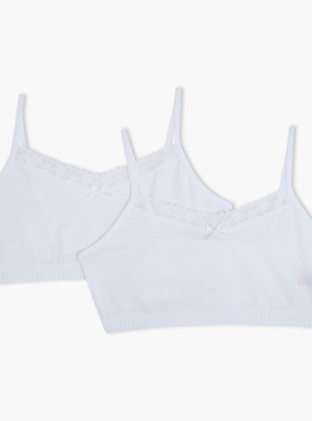 Bra with Lace Detail - Set of 2