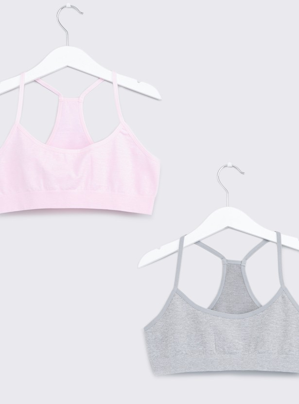 Seamless Sports Bra with Elasticised Band - Set of 2