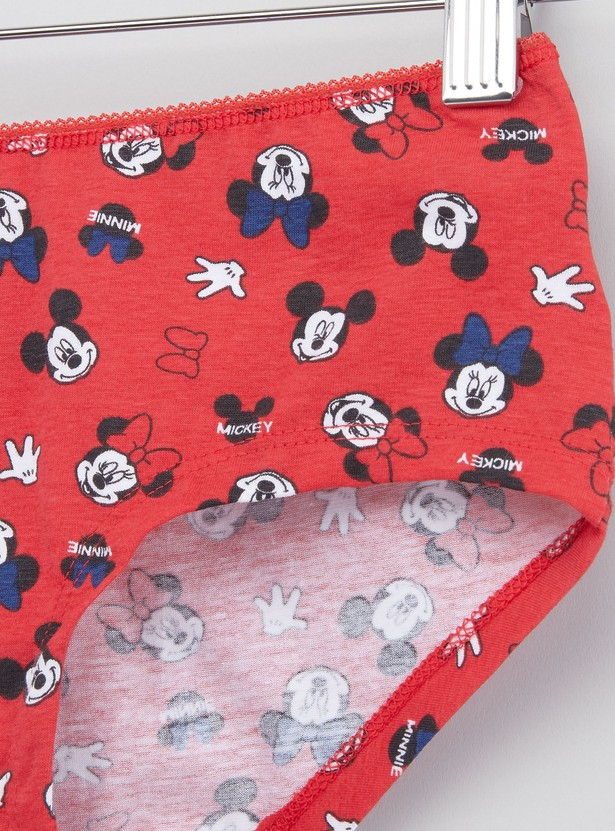 Set of 5 - Assorted Minnie Mouse Printed Briefs
