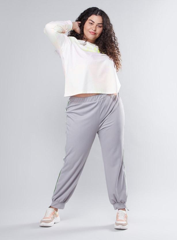 Plain Jog Pants with Elasticised Waistband
