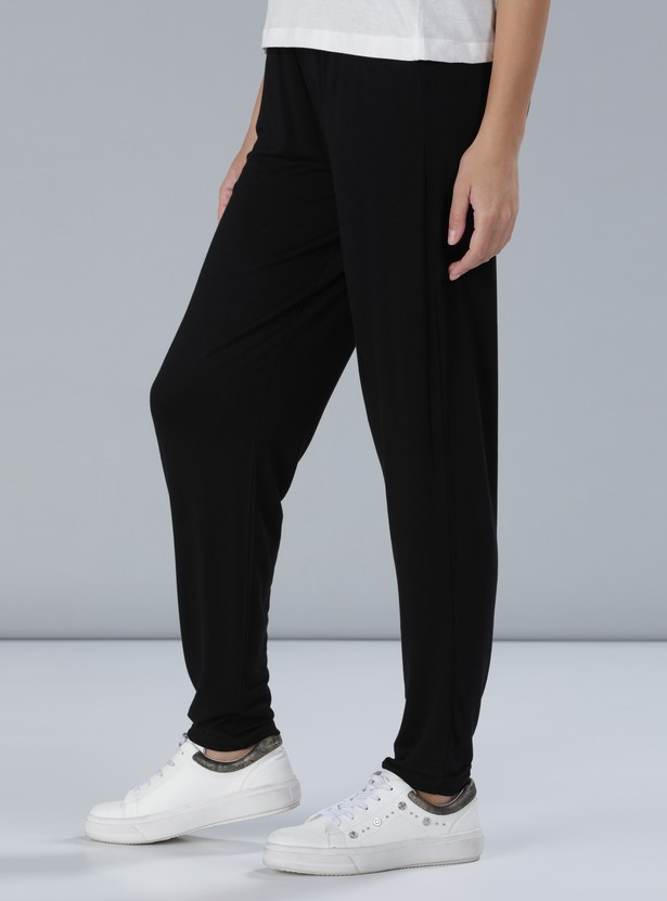 Printed Full Length Pants with Pocket Detail
