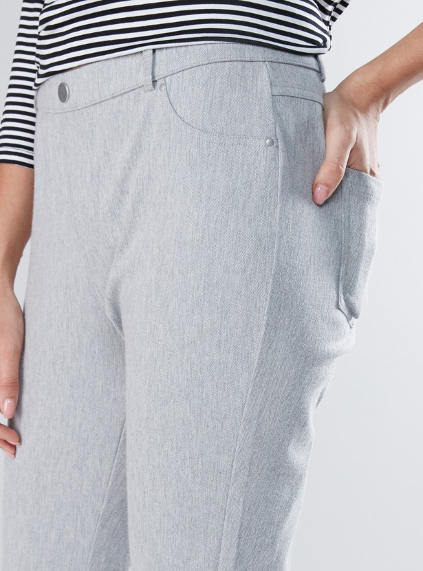 Full Length Jeggings with Pocket Detail