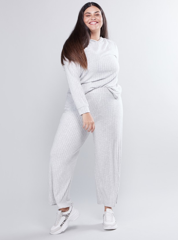 Ribbed Palazzo with Elasticised Waistband