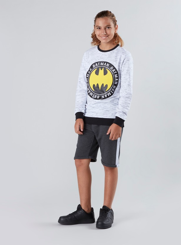 Batman Printed Shorts with Pocket Detail and Drawstring