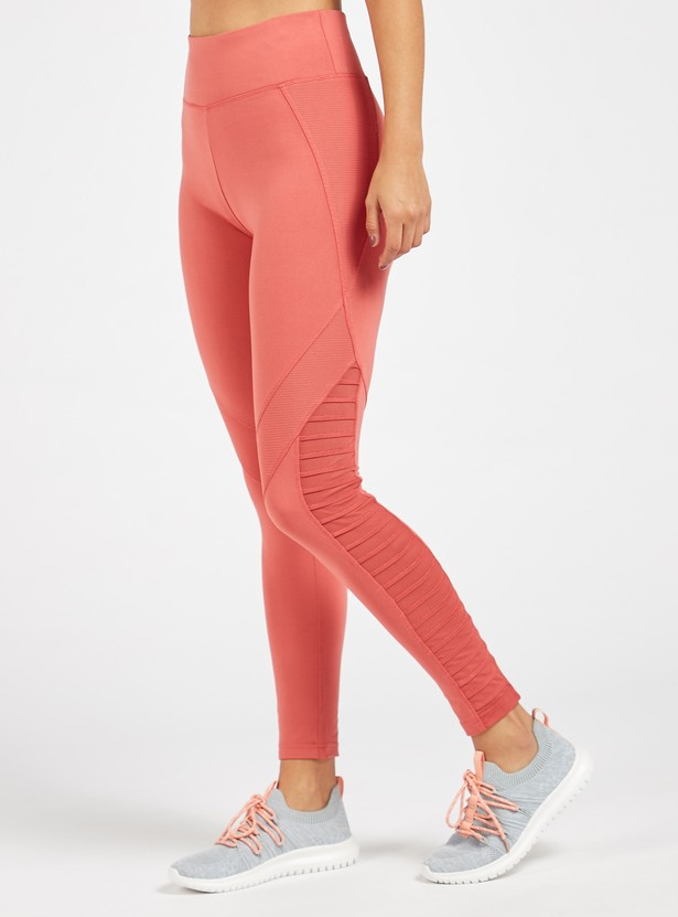 Full Length Solid Leggings with Elasticised Waistband