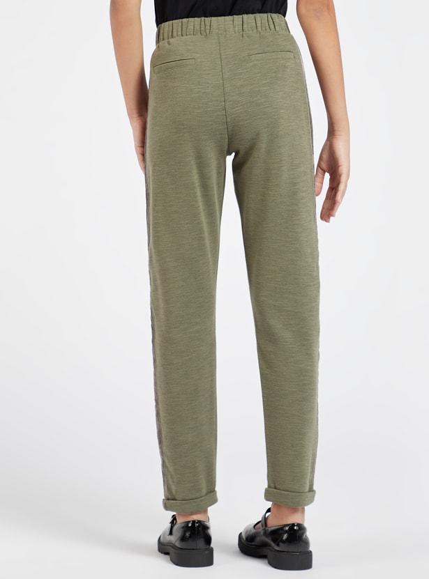 Solid Jog Pants with Pockets and Drawstring