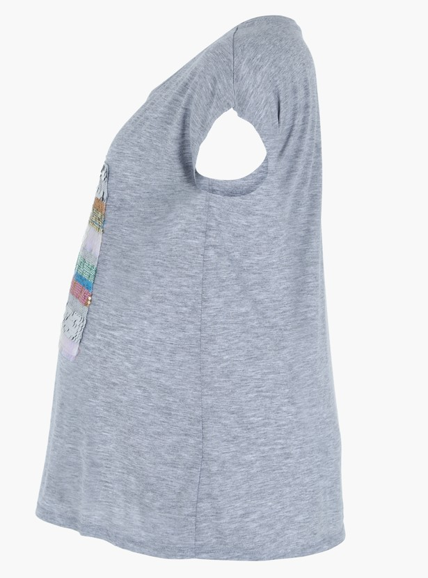 Printed Short Sleeves Maternity Top