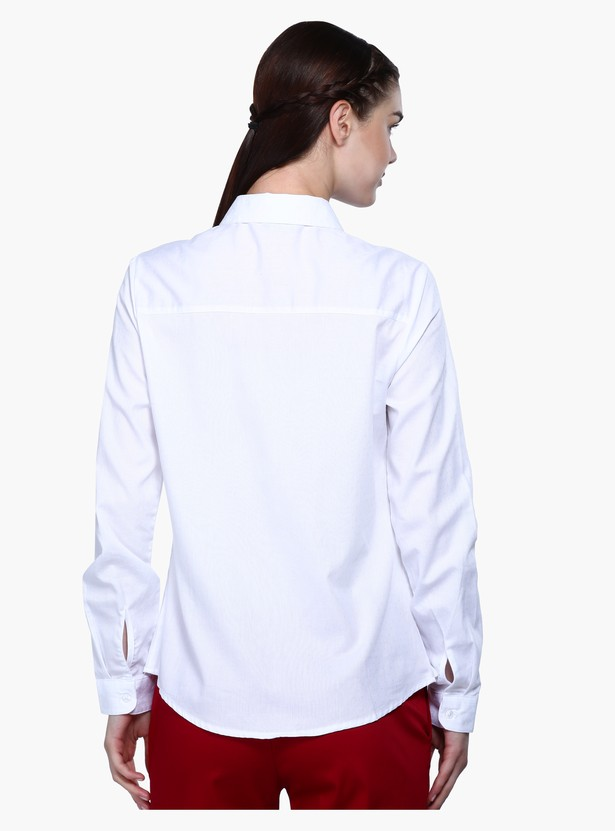Long Sleeves Shirt with Laser Cut Detailing