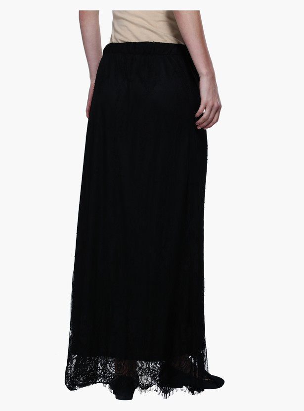 Maxi Lace Skirt with Elasticised Waistband