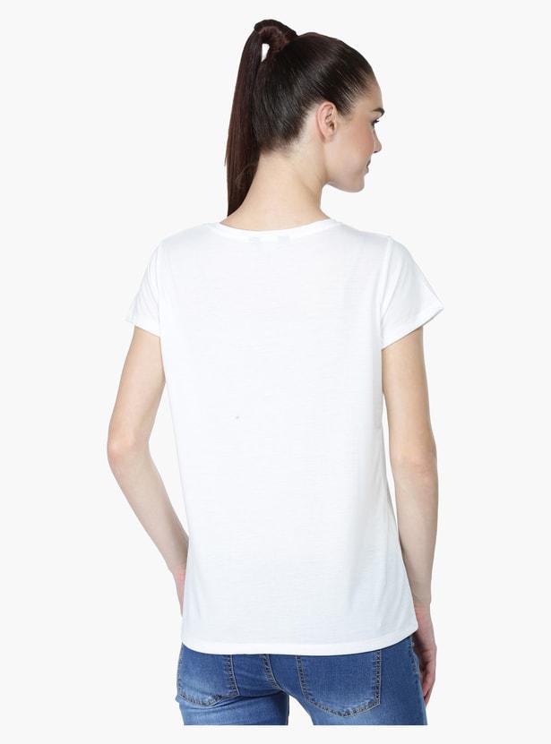 Short Sleeves T-Shirt with Round Neckline