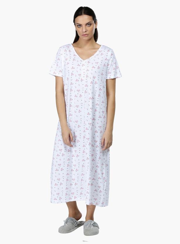 Floral Print Sleep Gown