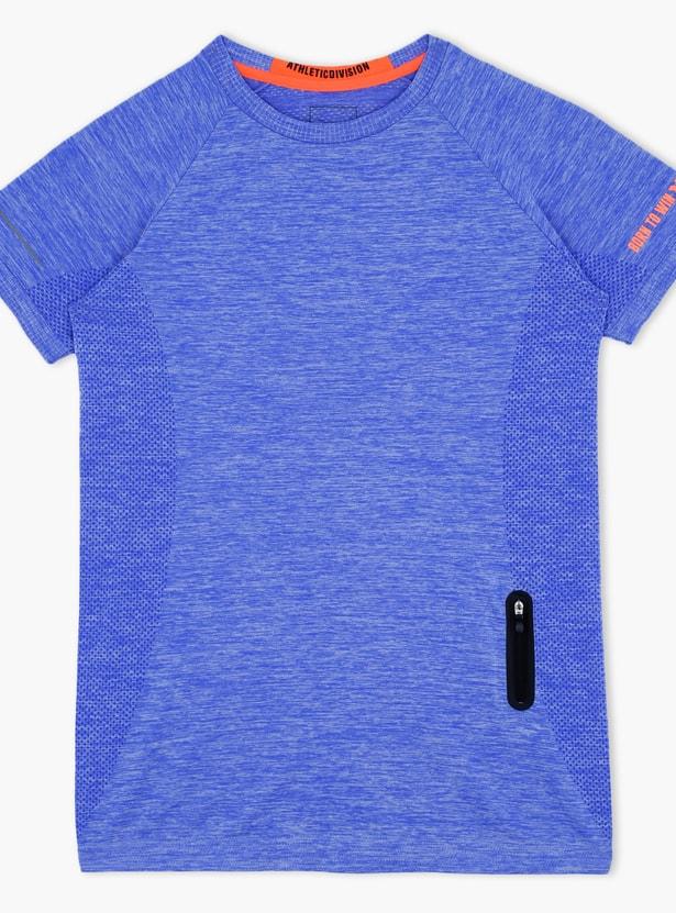 Textured Short Sleeves T-Shirt