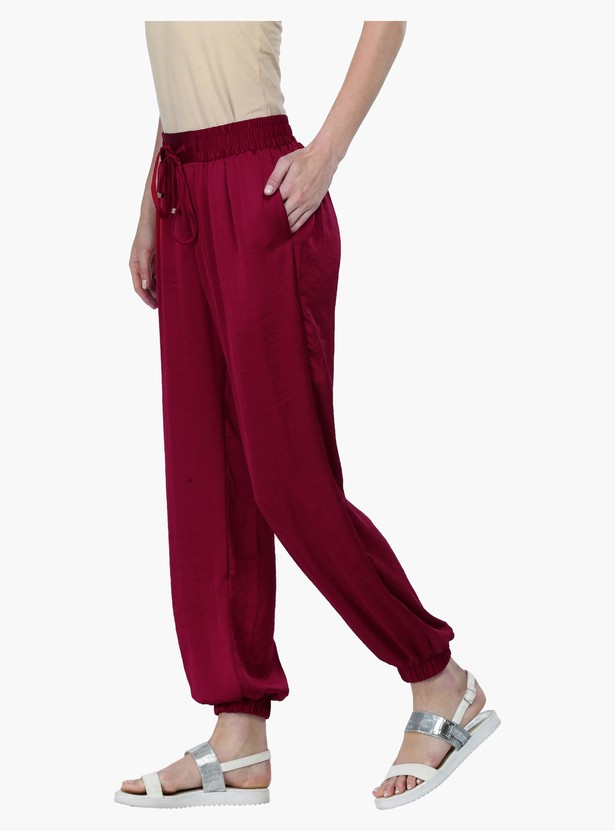 Straight Fit Mid Rise Harem Pants