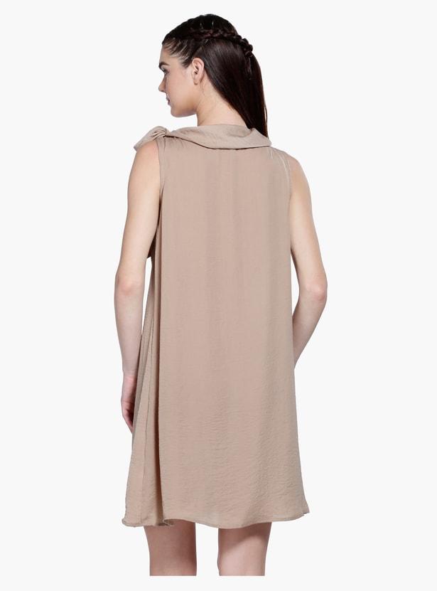Sleeveless A-Line Midi Shift Dress