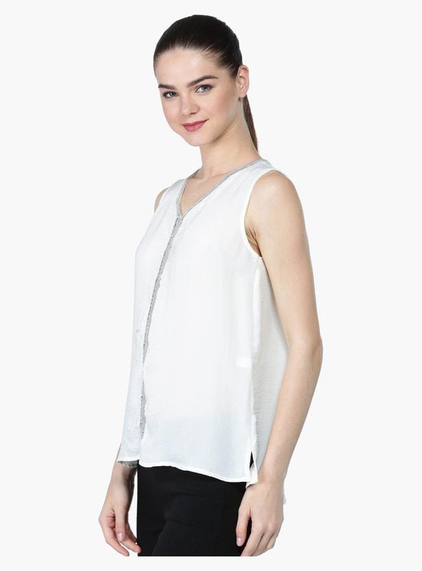 Embellished Sleeveless Top