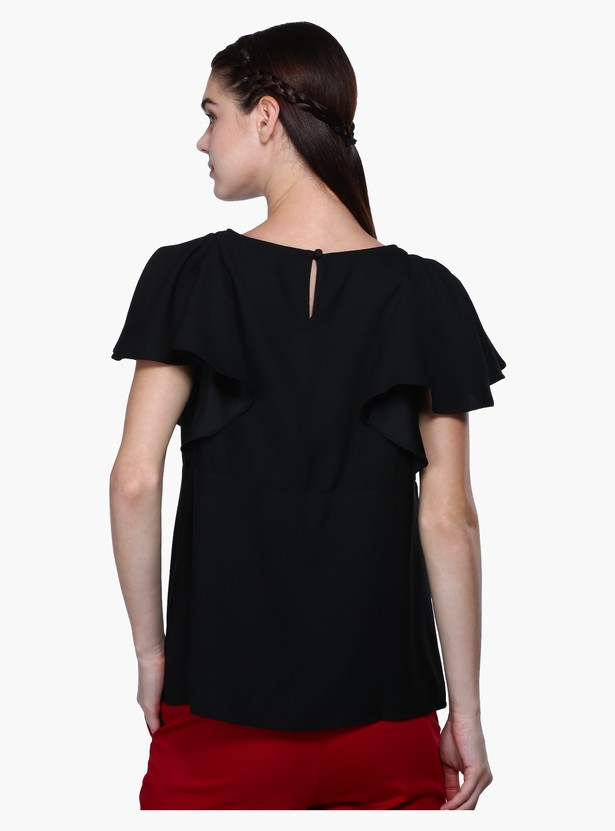 Round Neck Top with Key Hole Closure