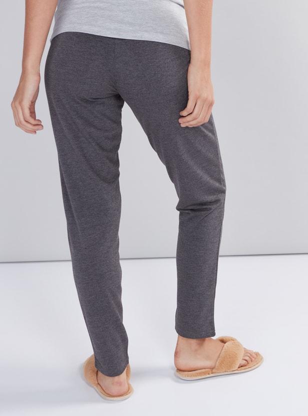 Full Length Pyjamas with Elasticised Waistband and Drawstring