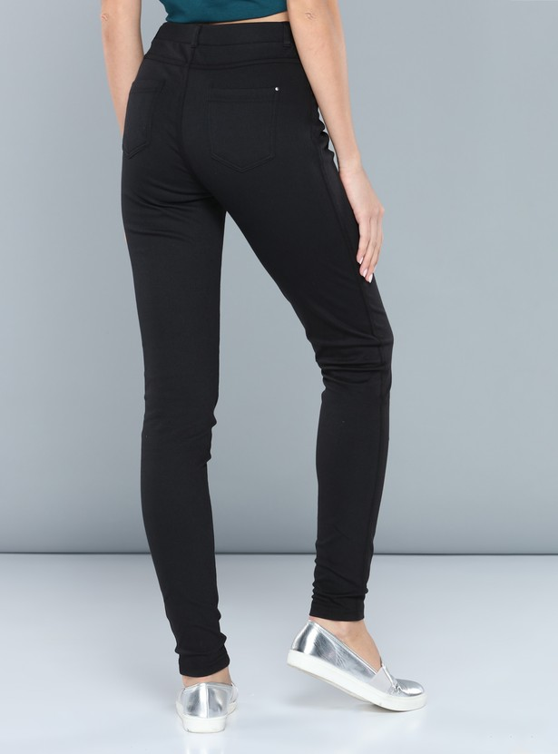 Printed Full Length Jeggings with Elasticised Waistband