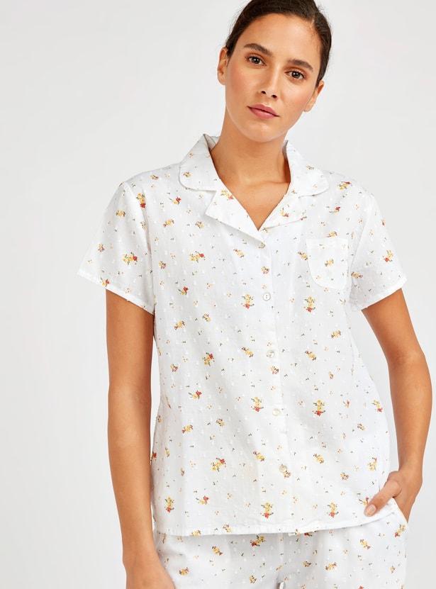 2-Piece Floral Print Pyjama Set