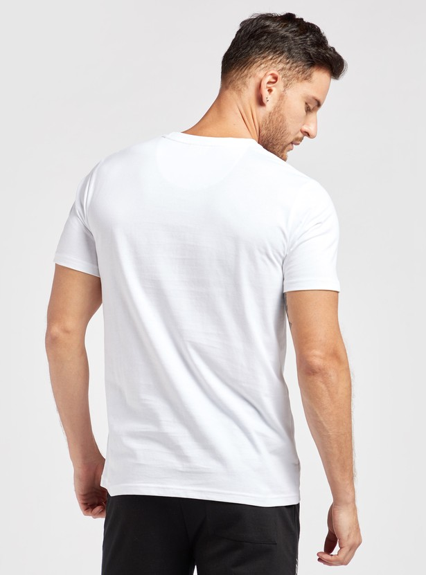 Regular Fit Marvel Print Round Neck T-shirt with Short Sleeves
