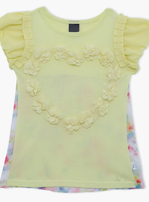 Printed Short Sleeves Top