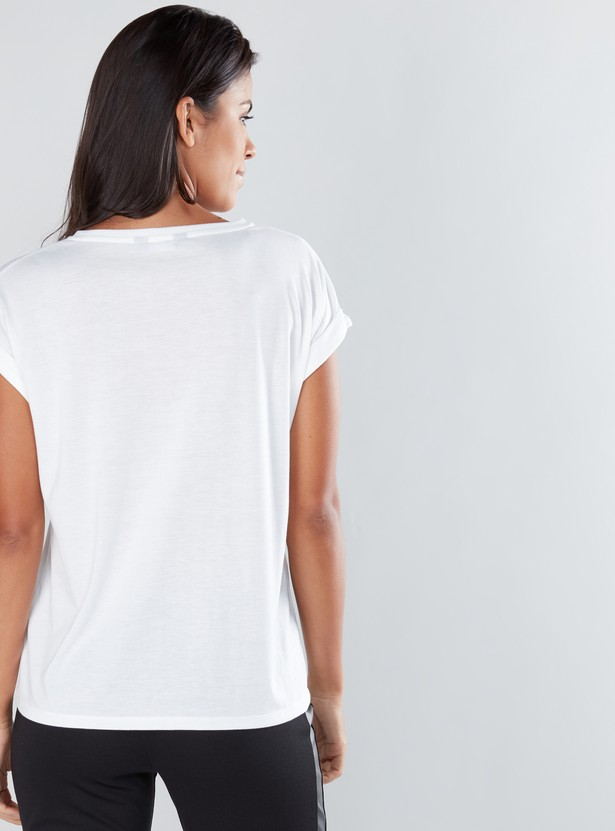 Graphic Printed T-Shirt with Round Neck