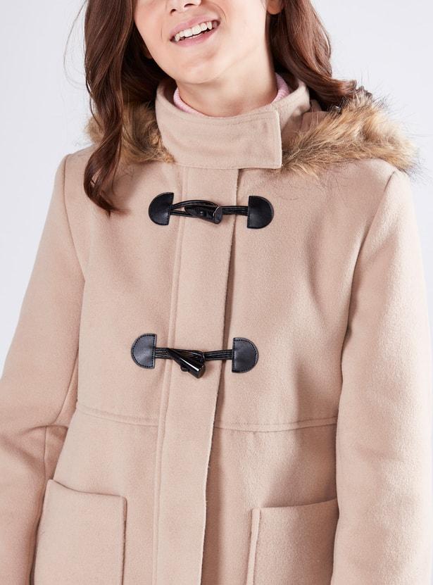 Hooded Duffle Longline Jacket