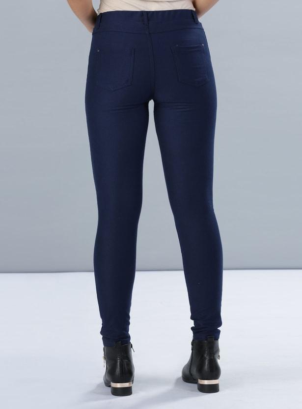 Full Length Pants with Elasticised Waistbanda