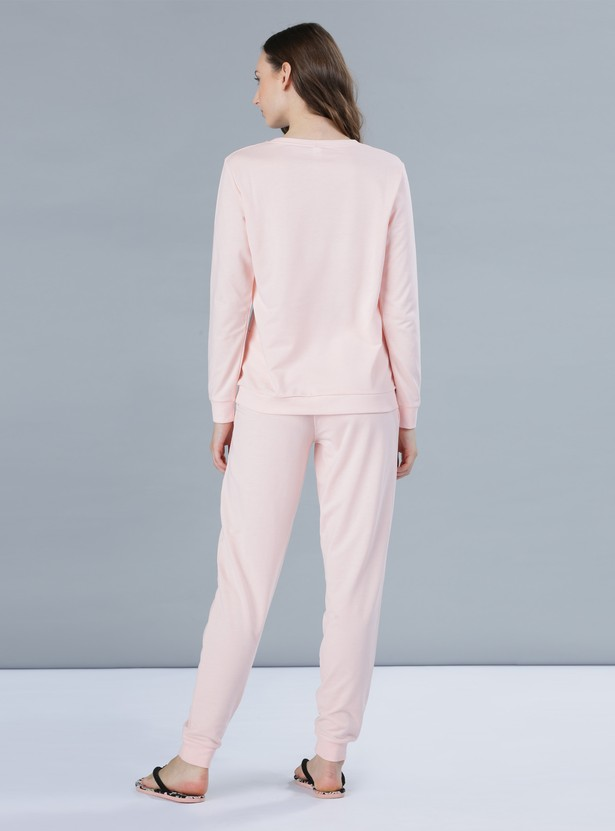 Printed Pyjamas and T-Shirt Set