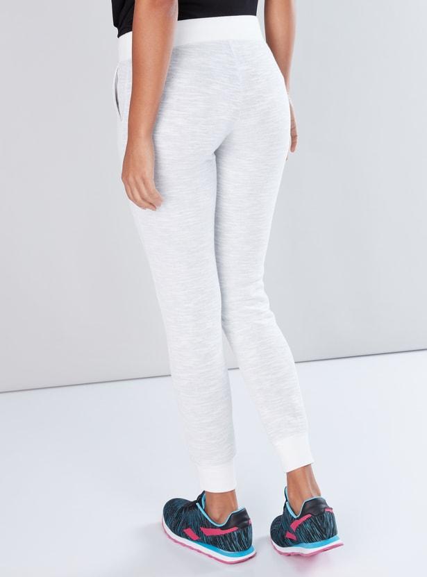 Textured Jog Pants with Pocket Detail and Drawstring