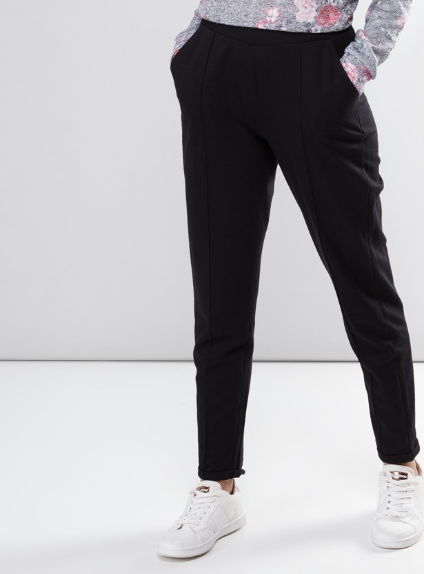 Pocket Detail Pants with Elasticised Waistband