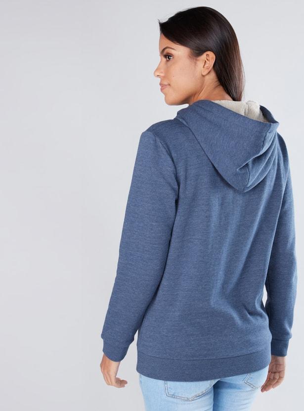 Long Sleeves Hoodie with Zip Closure