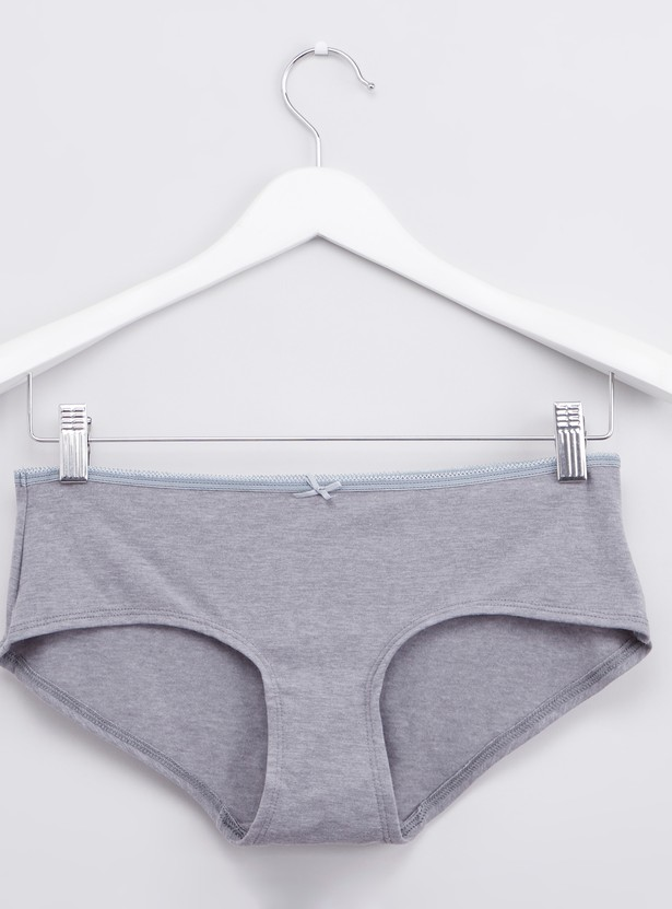 Set of 5 - Hipster Briefs with Bow Applique