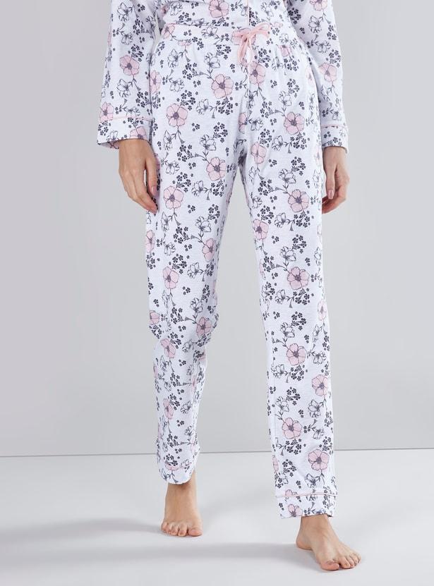 Floral Printed 3-Piece Pyjama Set
