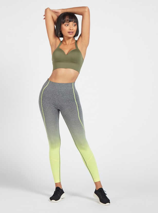 Slim Fit Ombre Leggings with Elasticised Waistband