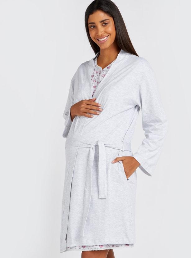 Maternity Floral Print 2-Piece Sleepsuit