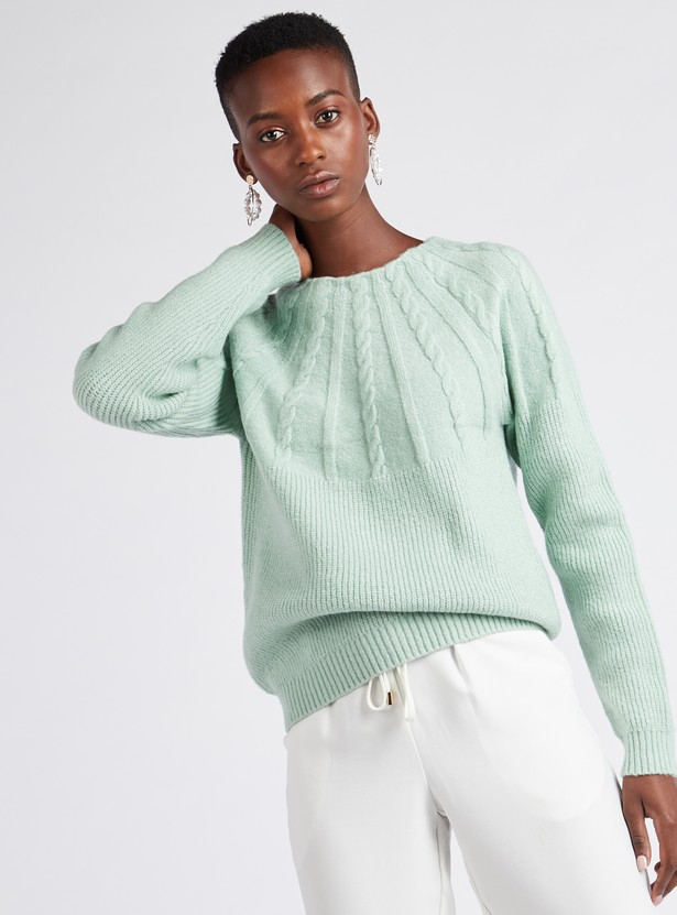 Textured Sweater with Long Sleeves