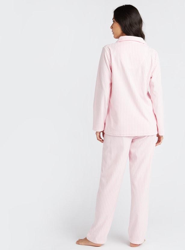 طقم ملابس نوم 3 قطع مخطط - تشكيلة كوزي