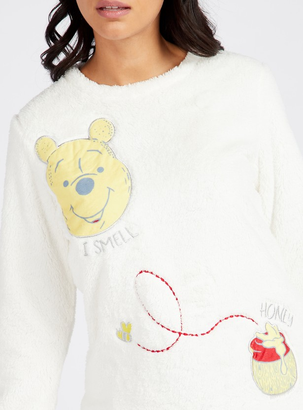 Cozy Collection Printed Round Neck Top and Printed Pyjama Set